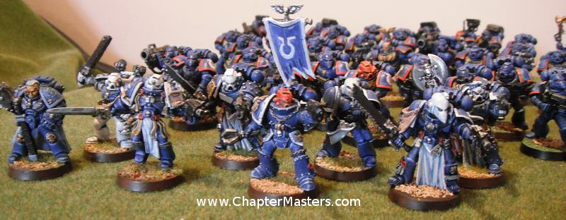 Space Marine Veteran, Space Marine command squad, Ultramarine Veteran
