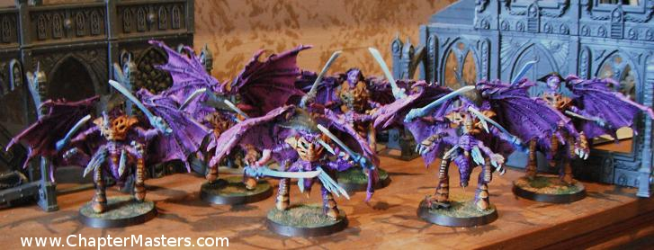 Shrikes, Tyranid Shrikes, Winged Tyranid warriors, old Tyranid warriors, Tyranid attack, advanced space crusade, tyranid fast attack, chaptermasters.com