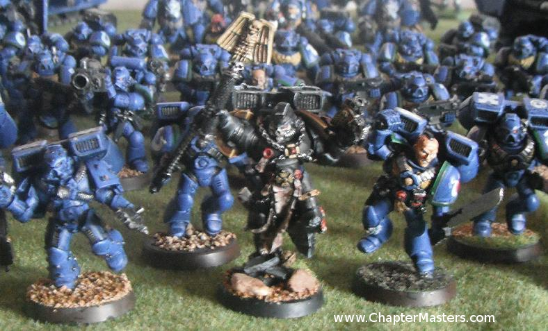 Space Marine chaplain with Jump pack, UltraMarine chaplain with Jump pack, Painted Finecast Space Marine chaplain with Jump pack, Space Marine chaplain, MK5 assault Marine.