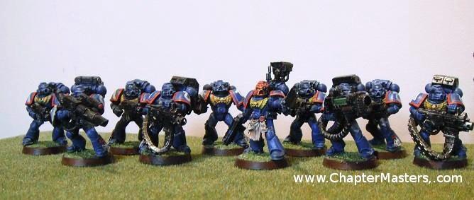 Ultramarine Devistator squad, Space Marine devistator squad, Devistator squad, plastic devistator squad, devistators