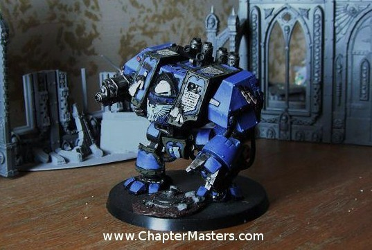 Forge World Venerable Dreadnough, Ultramarine Dregnought, Ultramarine Forge World Dregnought