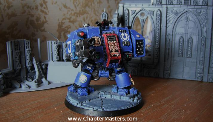 Ultramarine Dreadnought, Space Marine Dreadnought, Dreadnought, Thrid Company Ultramarine Dreadnought,