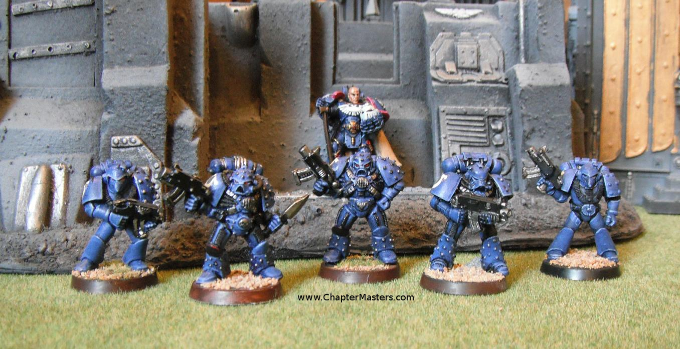 Rogue trader space marines, Rogue trader Ultramarines in MkV 5 Space Marine Heresy Power Armour, mk v power armour