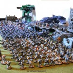 Today's 40k Picture – How many marines can you fit on half a game table?