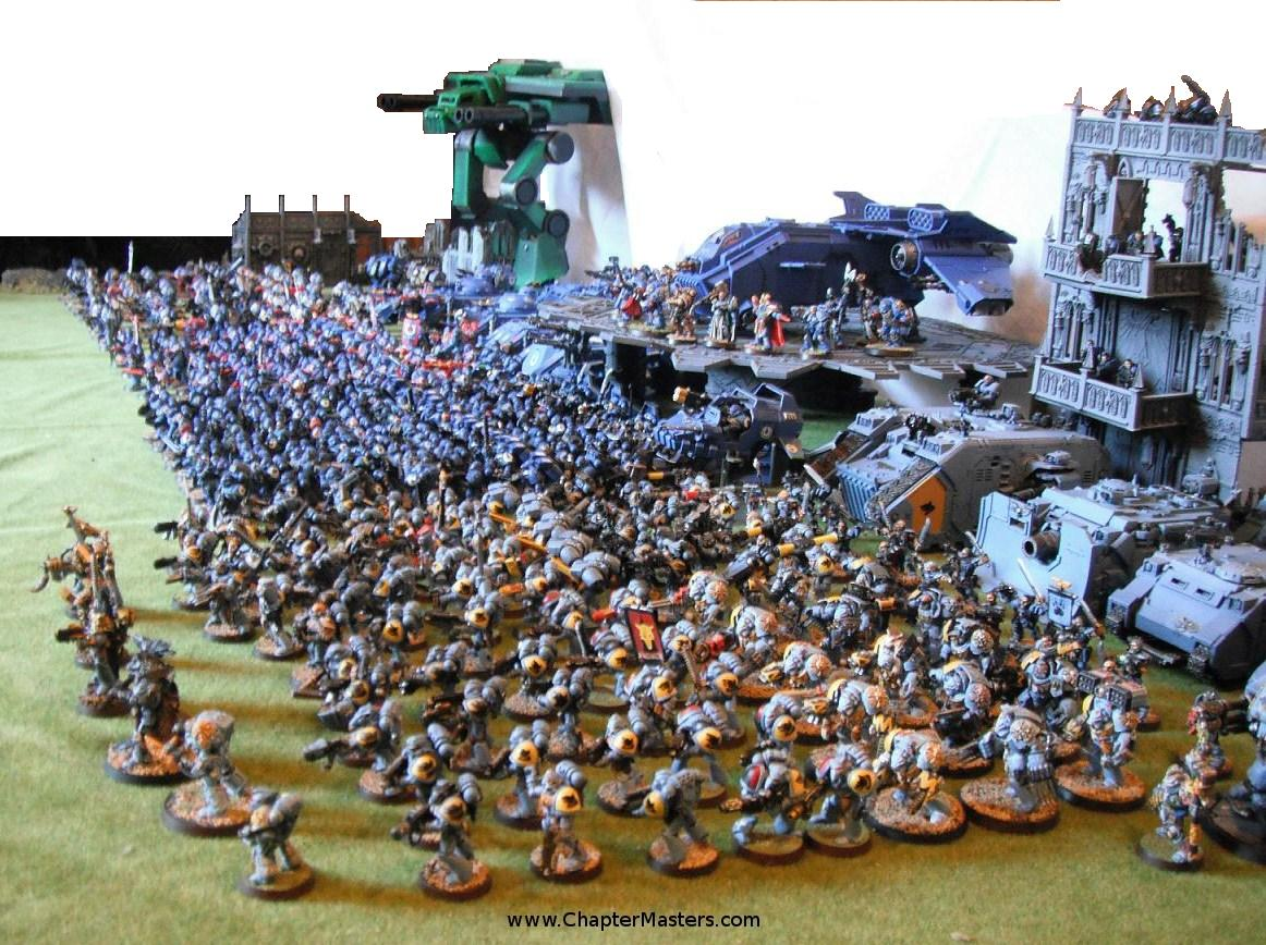 Four Space Marine Companies, huge army