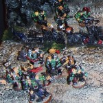 Ork war boss and boyz