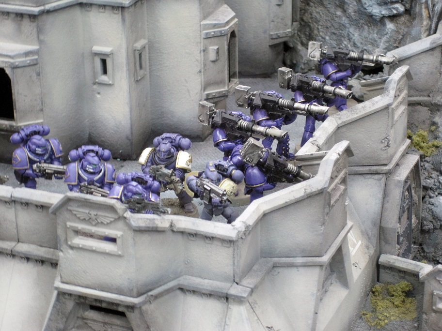 EMPEROR'S CHILDREN LEGION - LEGION MKIV HEAVY SUPPORT SQUAD  LASCANNONS