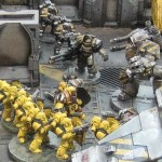 UK Games Day 2013 Forge World:  The Battle of Phall Imperial Fist Boarding Action Display Board