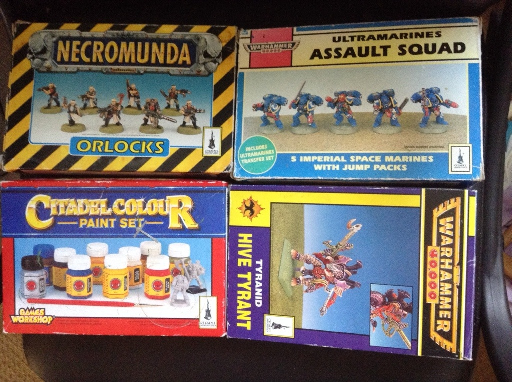 Warhammer 40k 2nd editions boxes