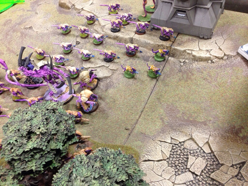 Seven Termigaunts are slain by Grey Knight bolter fire