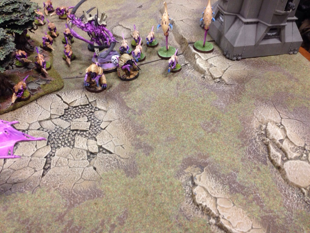 Tyranid Swarm Lord advances