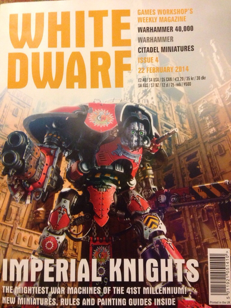 Imperial Knights White Dwarf 4 Cover