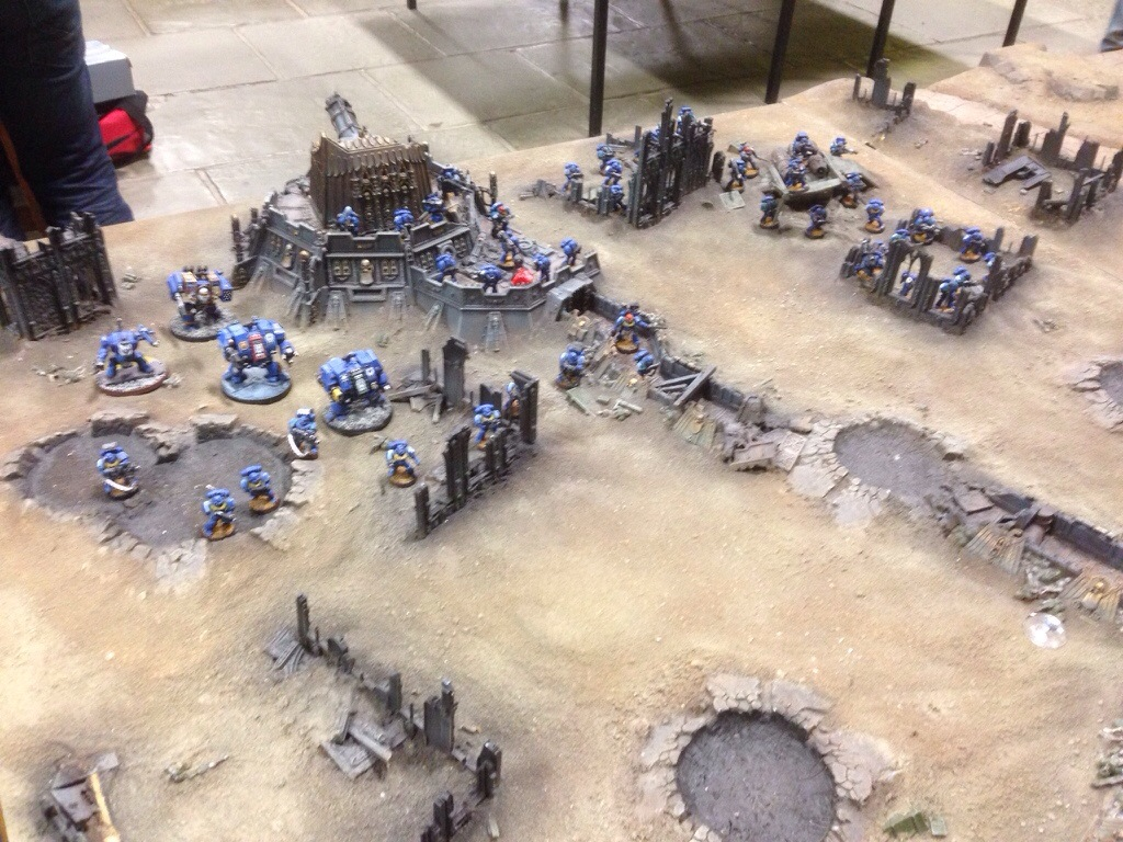 Ultramarine right flank deployment on J'migan Bridge