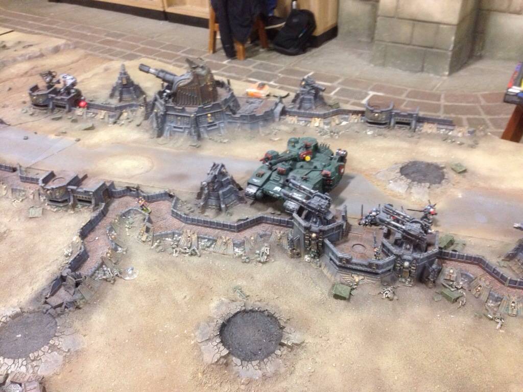 Grey Knight left flank deployment on J'migan Bridge