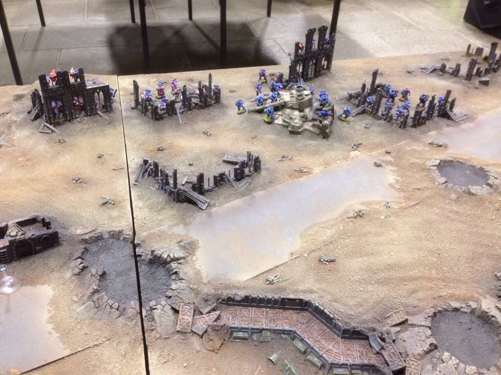 Ultramarine left flank deployment on J'migan Bridge
