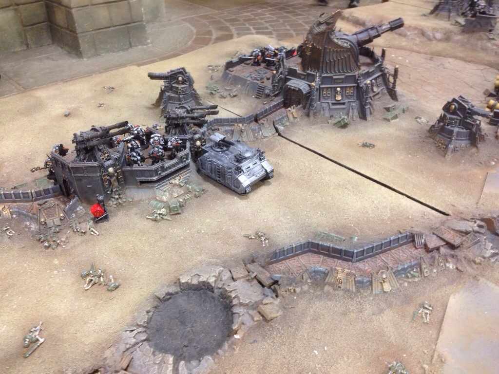 Grey Knight right flank deployment on J'migan Bridge