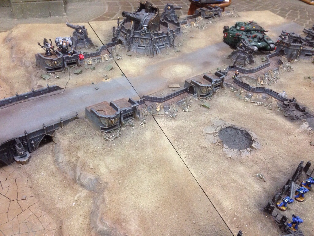 Another view of the Grey Knight right flank deployment on J'migan Bridge