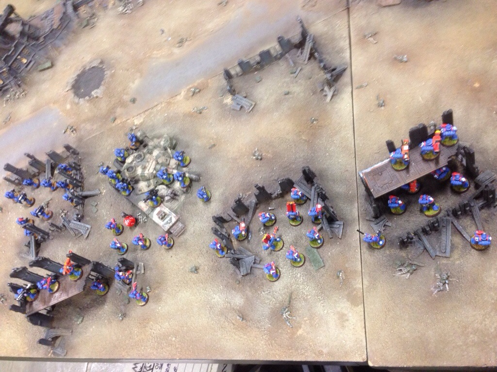 Another view of the Ultramarine's left flank.