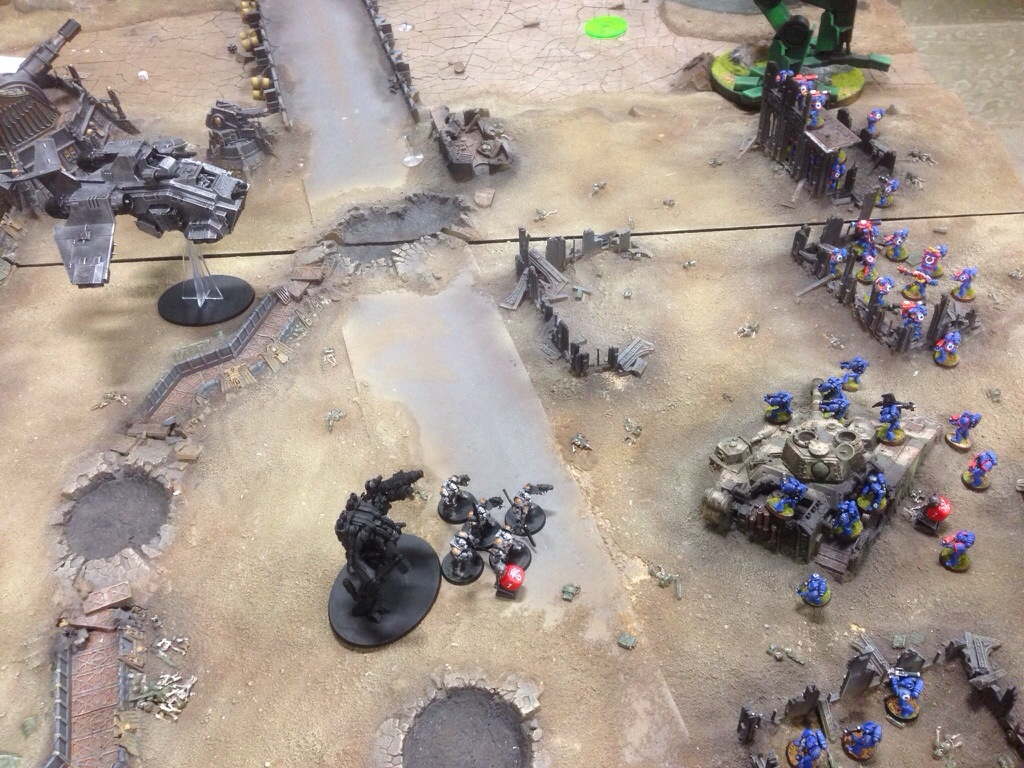 Grey Knights take a forward objective.