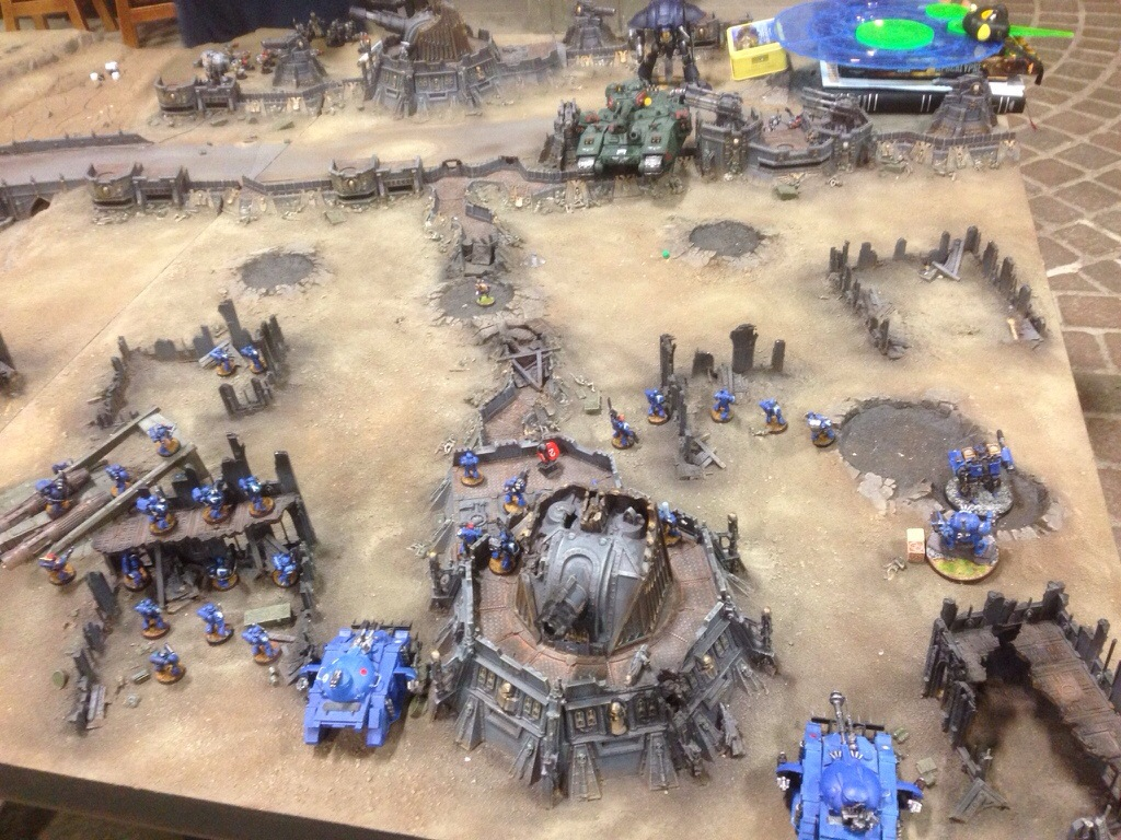 Ultramarine fire all they have at a BaneBlade