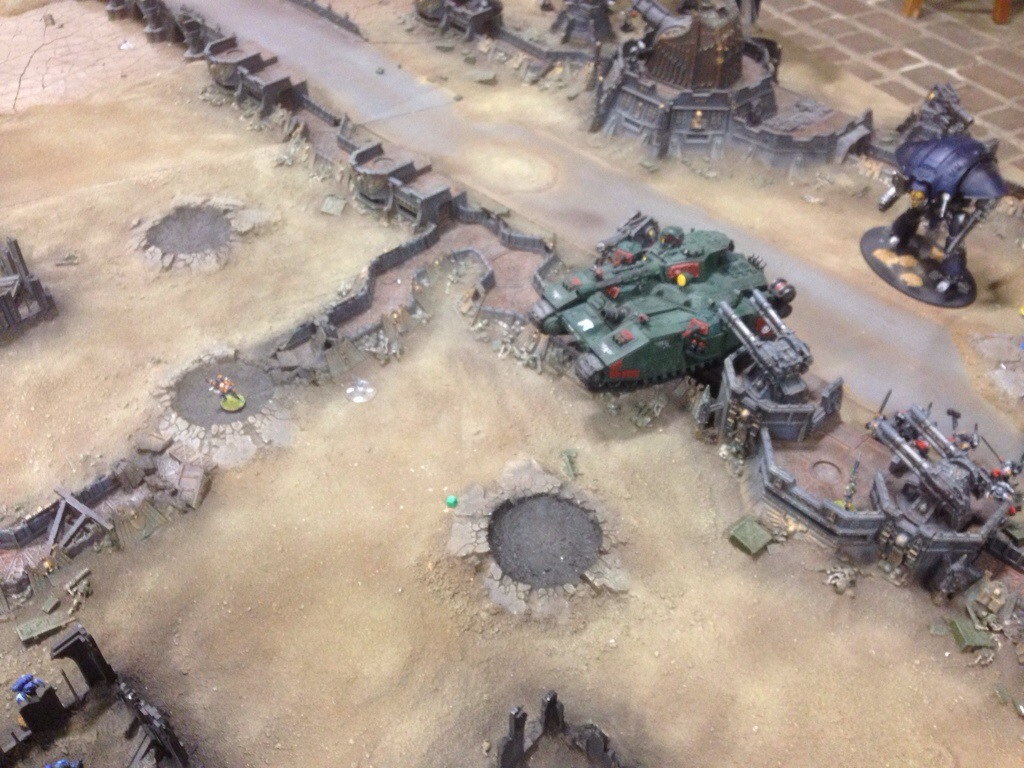 The assassin advances towards the Ultramarine held objective.