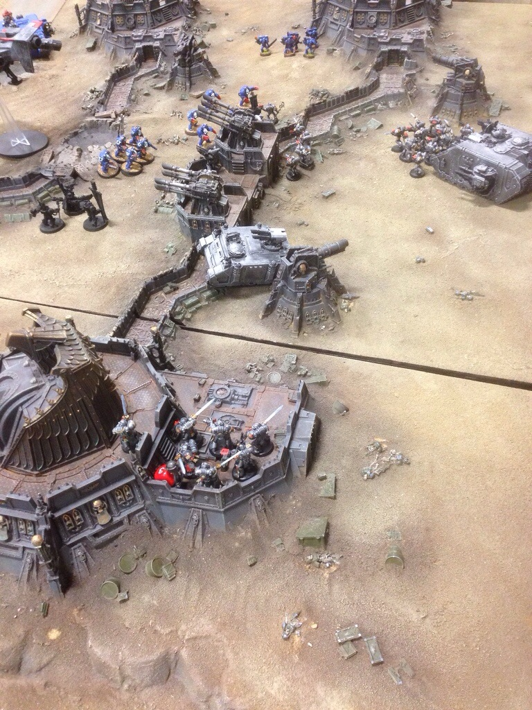Ultramarines fail to remove the Grey Knights from the objective.