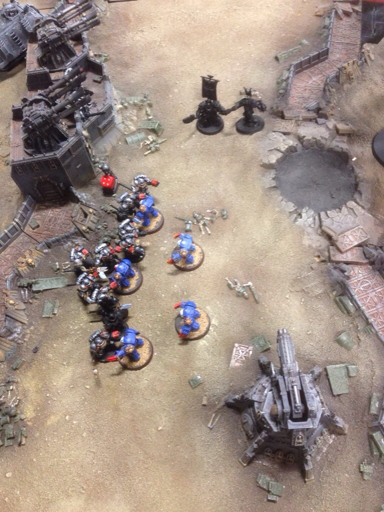 The Grey Knights removed the Terminators threatening the objective.