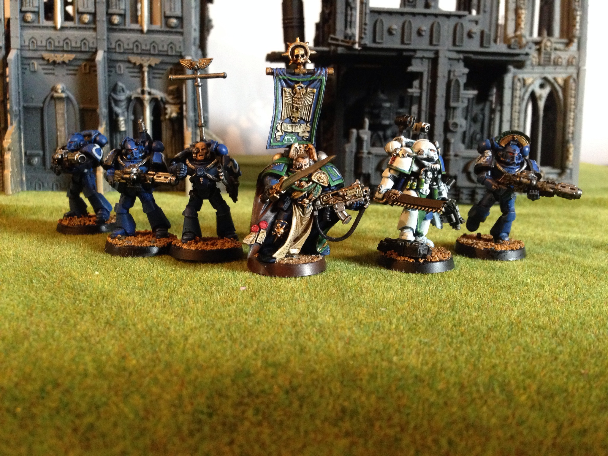 Uriel Ventris and Command Squad, BLack Reach Ultramarine Captain