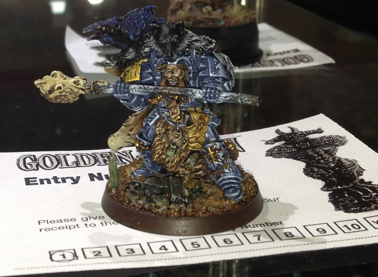 Space Wolf Rune Priest Njal Storm Caller  40k Single Miniature Golden Demon 2014