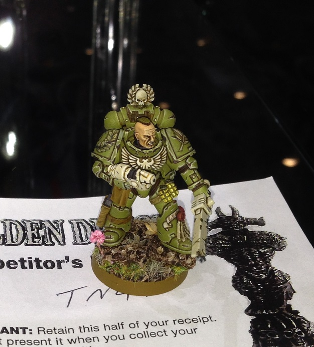 Space Marine Sergeant 40k Single Miniature Golden Demon 2014