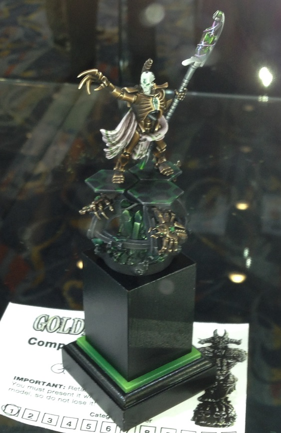 Necron Lord 40k Single Miniature Golden Demon 2014