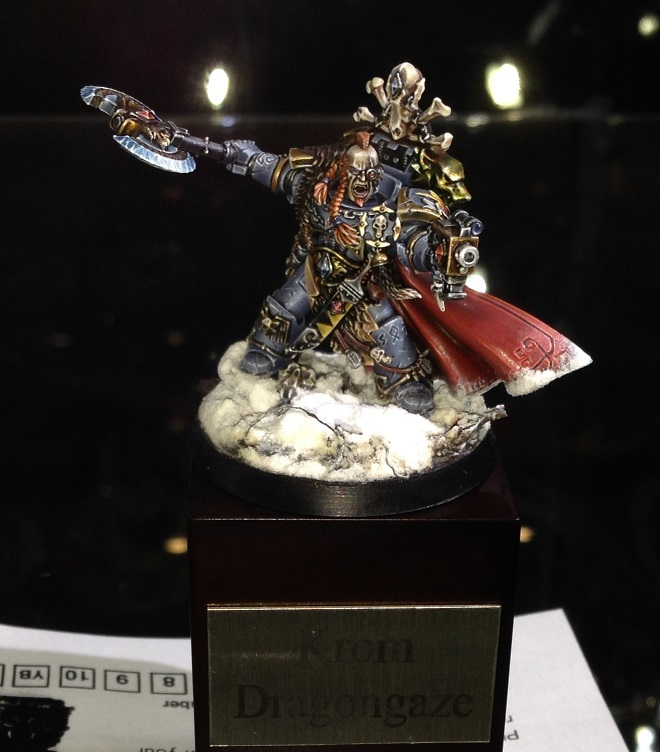 Limited Edition Space Wolf Captain Krom Dragongaze 40k Single Miniature Golden Demon 2014