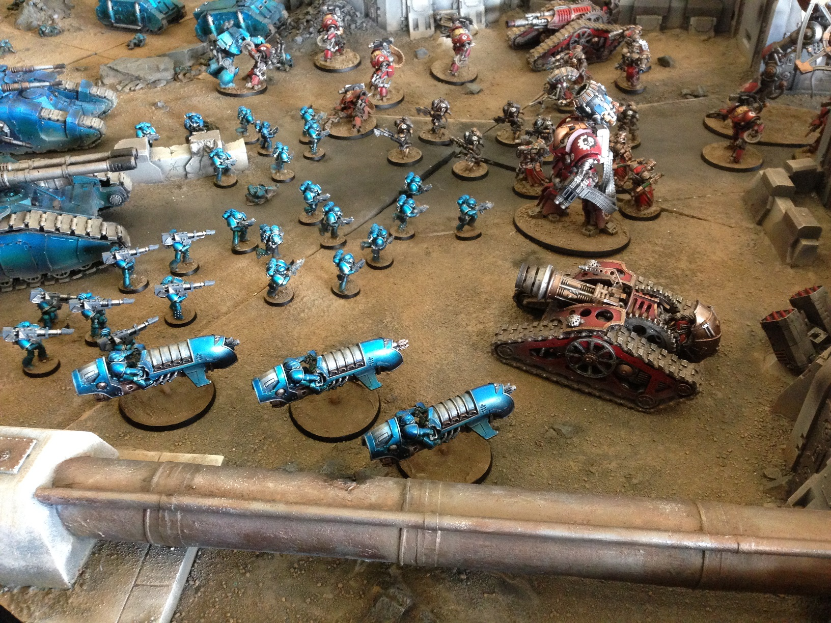 ALPHA LEGION VS MECHANICUM FORGEWORLD