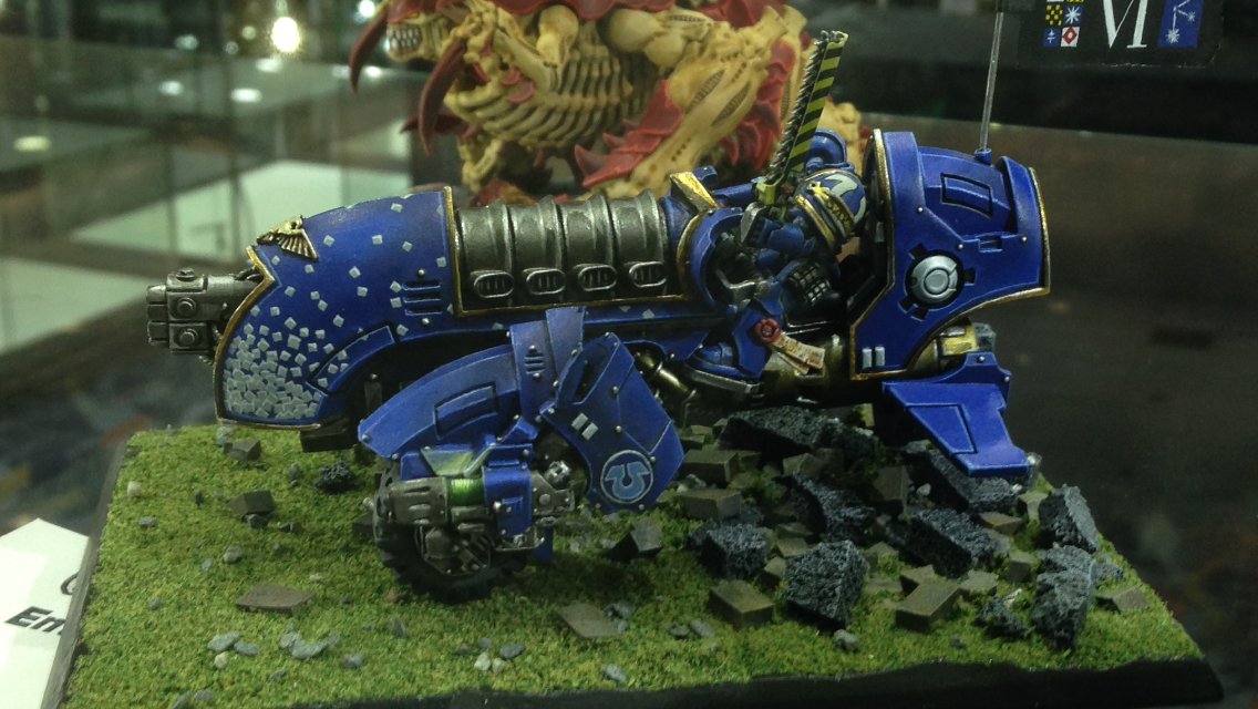 Ultramarine jet bike - Golden Demon 2014