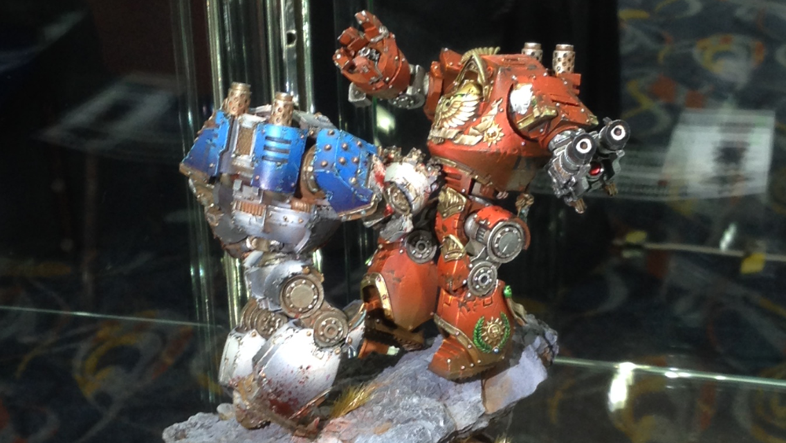 World Eater and Blood Angel Contemptor Dreadnoughts - Duel Golden Demon 2014