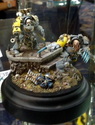 Space Wolf Wolf Guard  - Open Competition Golden Demon 2014