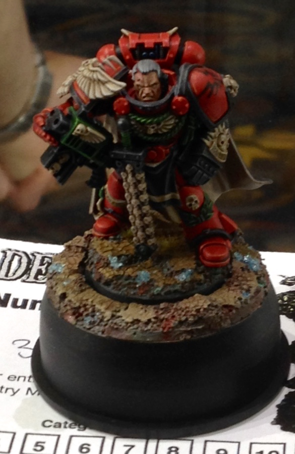 Blood Angel Limited Edition Captain - Open Competition Golden Demon 2014
