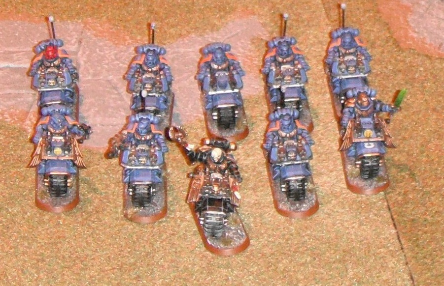 Chaplian and Ultramarine Bike Squad at Games Day