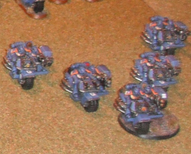 Ultramarine Bike Squad at Games Day