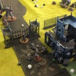 Sisters of Battle and Grey Knights vs Chaos and Eldar Battle Photos