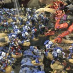 Classic Ultrmarines and Tyranids at Warhammer World