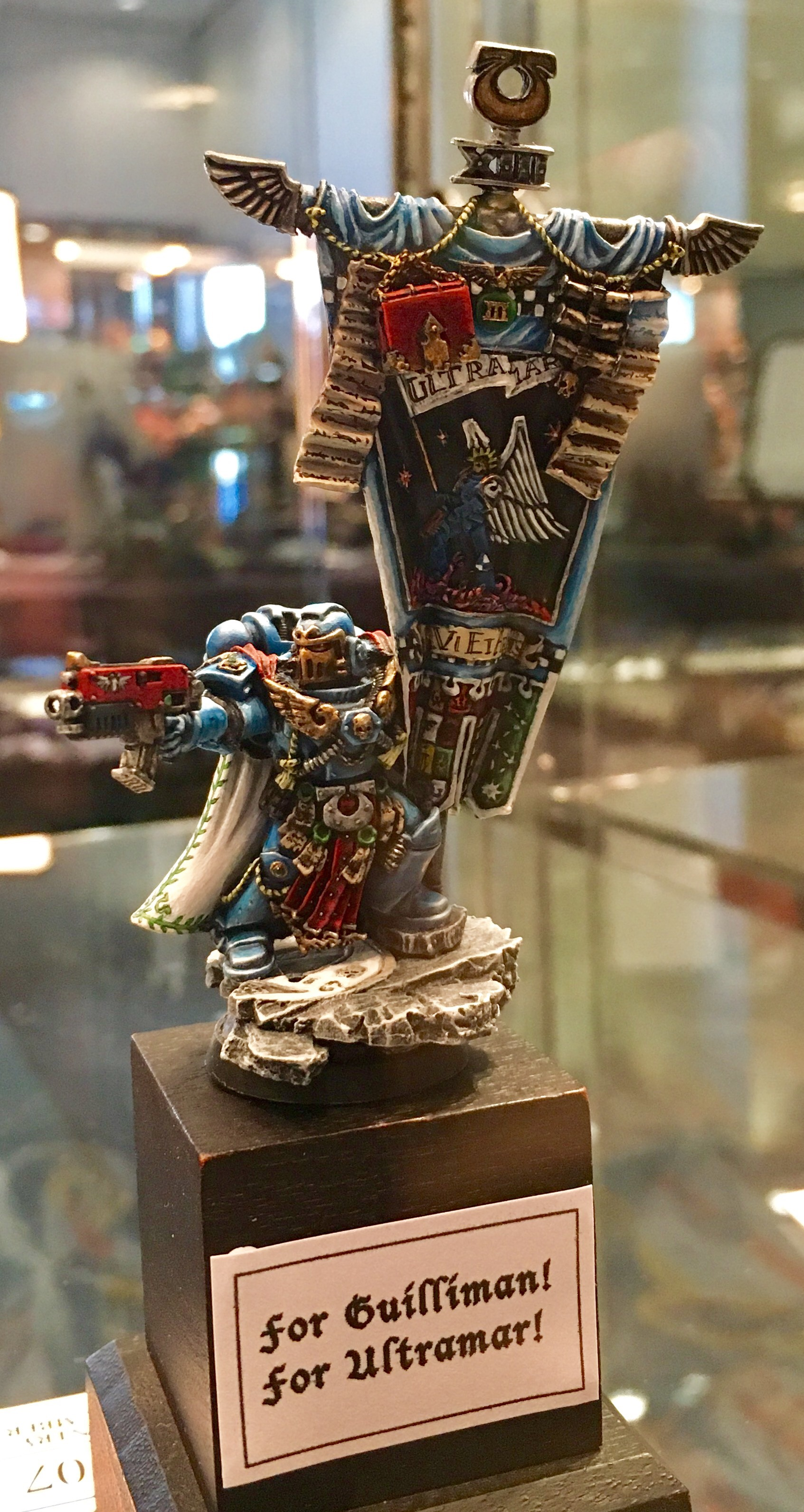 Ultramarine Chapter Standard Bearer Golden Demon 2017