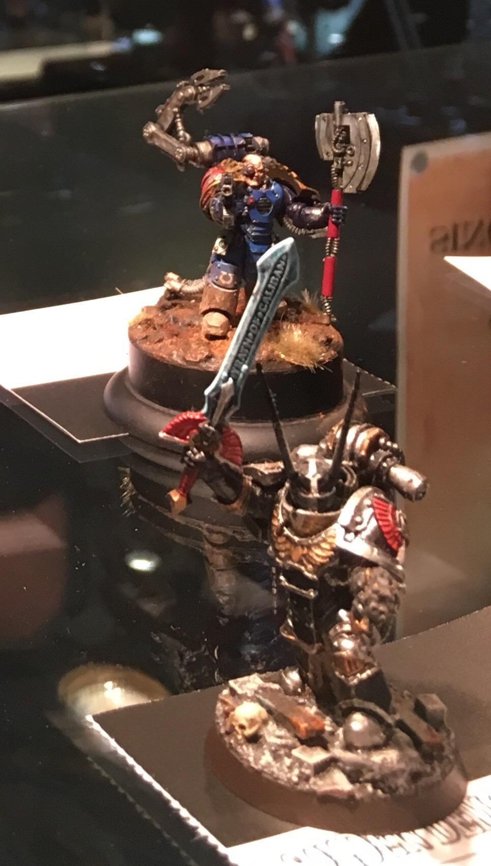 Dark Angel Legion Champion and Ultramarine Tech Marine Golden Demon 2017