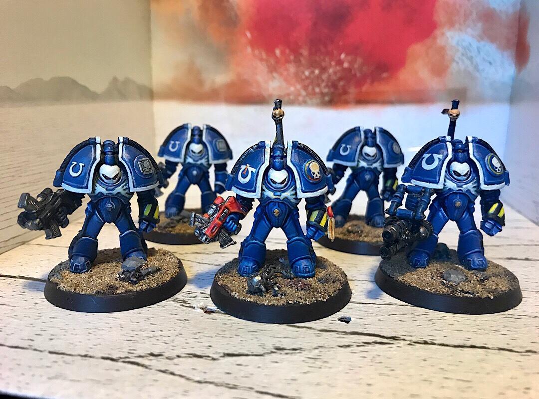 Rogue Trader Ultramarine Exo armour Terminators